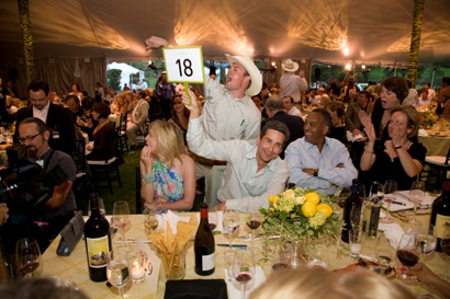 Wine auction in Napa Valley 2014