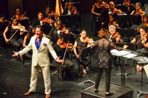 Alondra de la Parra, James Valenti and the Sphinx Orchestra perform