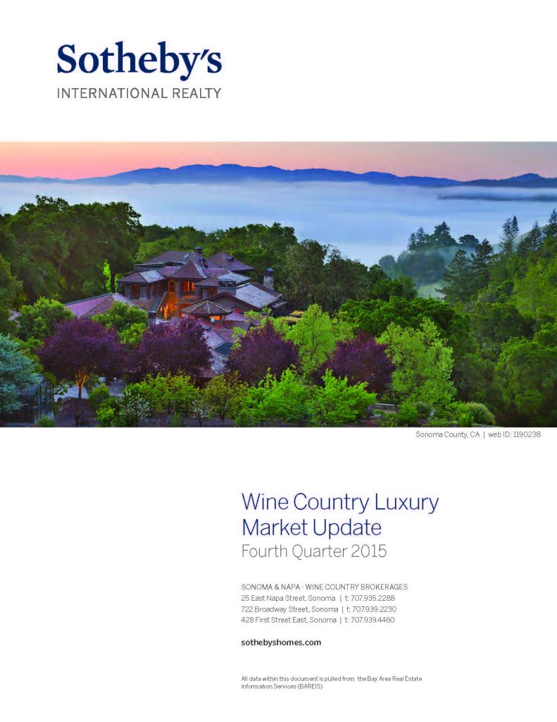 wine country luxury market update
