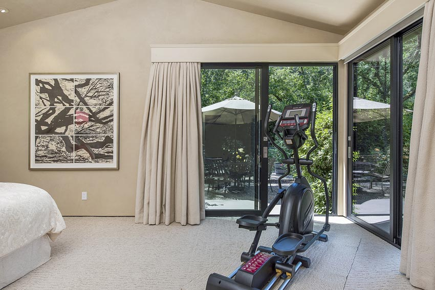 2nd master bedroom with elliptical