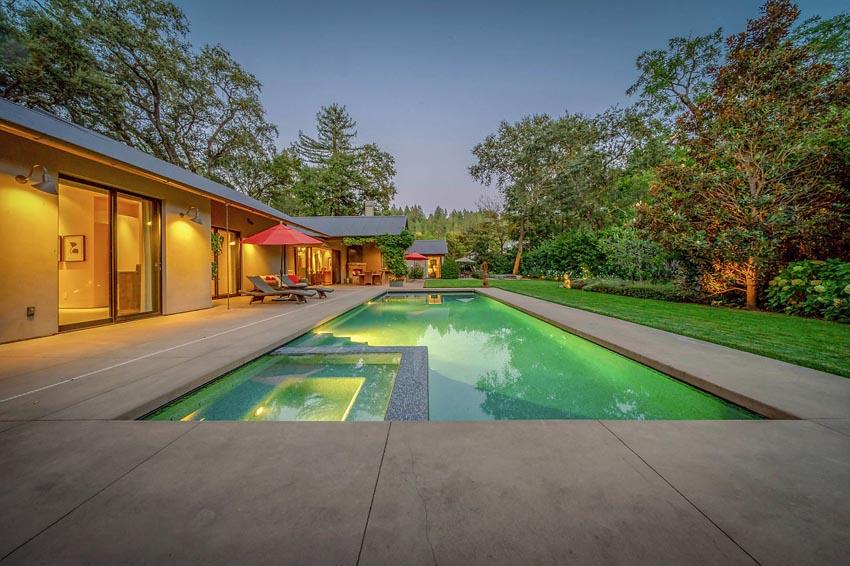 Backyard pool 478 Elmshaven Road