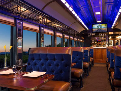 Napa Wine Train Interior