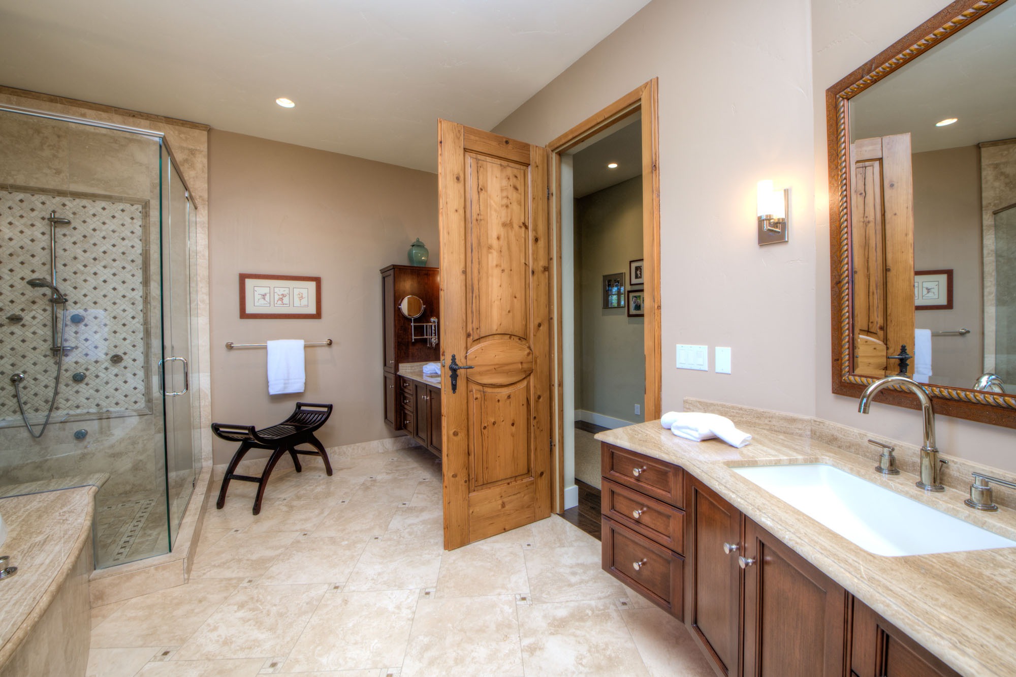 2110 Diamond Mountain Road Master Bathroom