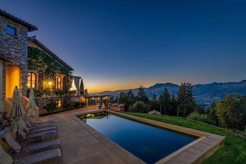 2110 Diamond Mountain Road sunset