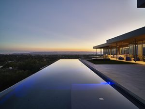 Luxury outdoor living infinity pool