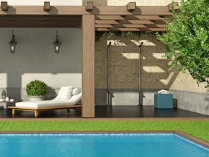 Additional shower luxury outdoor living spaces