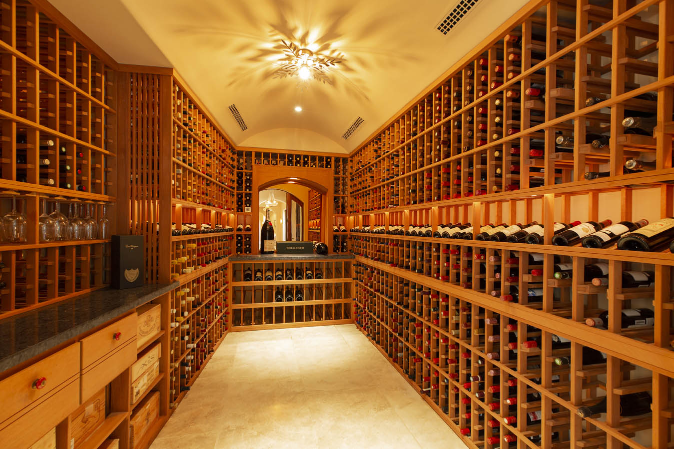 Wine cellar 303 Deer Park St Helena California