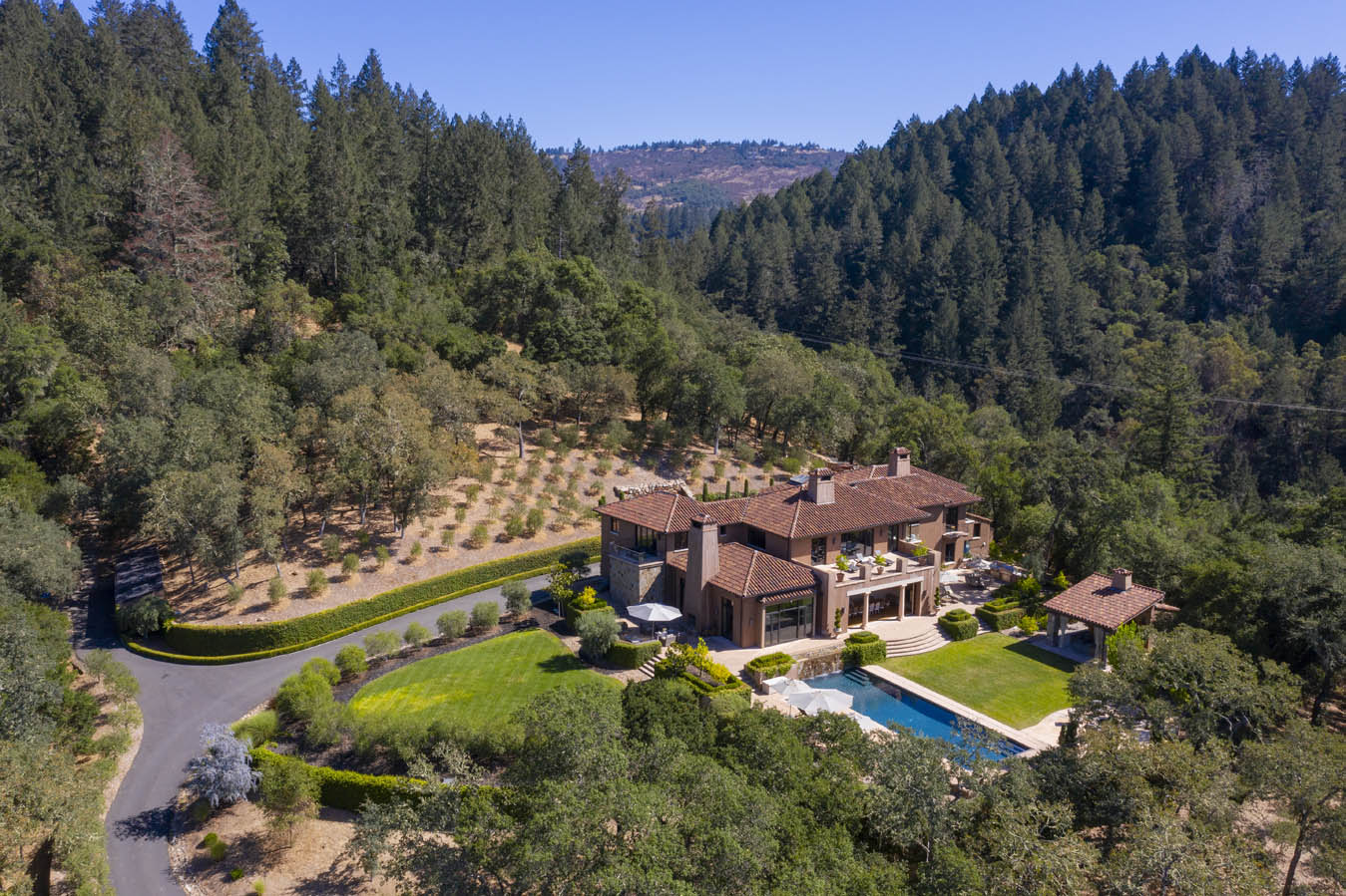 Aerial shot of 303 Deer Park Saint Helena
