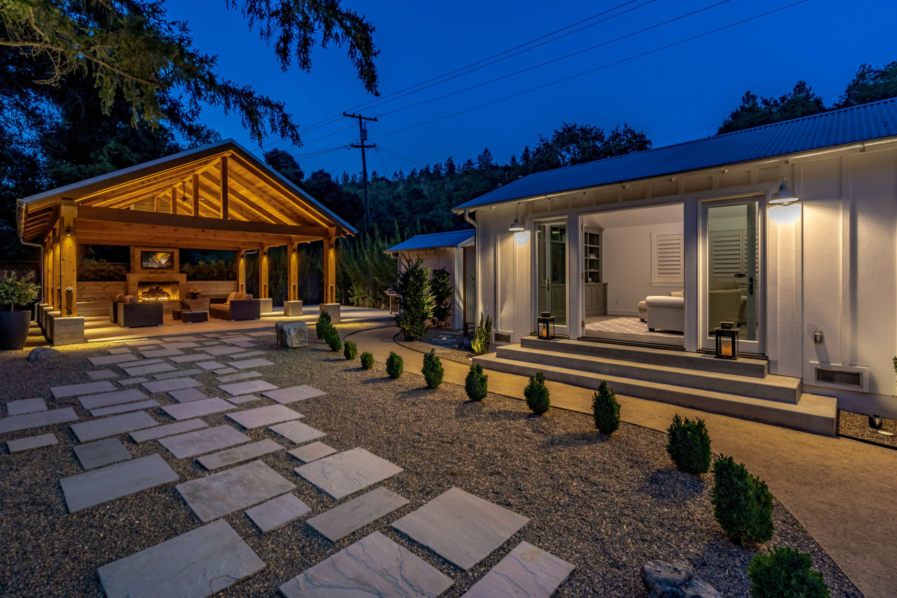 View of lounge and backyard 466 Elmshaven Road