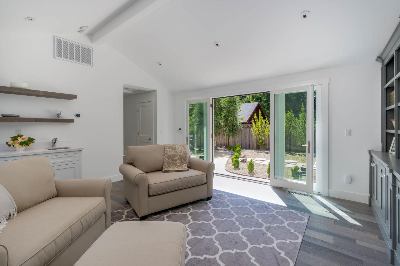 Living room frnech doors